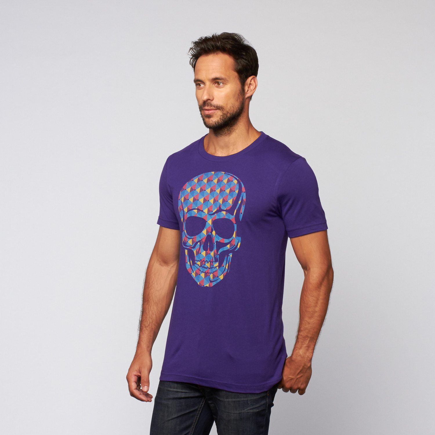 Geometric Skull Tee // Purple (S) - BabbleTees - Touch of ...