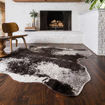 "Grand Canyon Rug // Ivory + Charcoal (3'9.6"" x 5')"