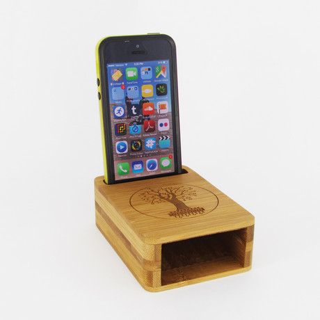 The Circuitree - Bamboo iPhone Amps - Touch of Modern