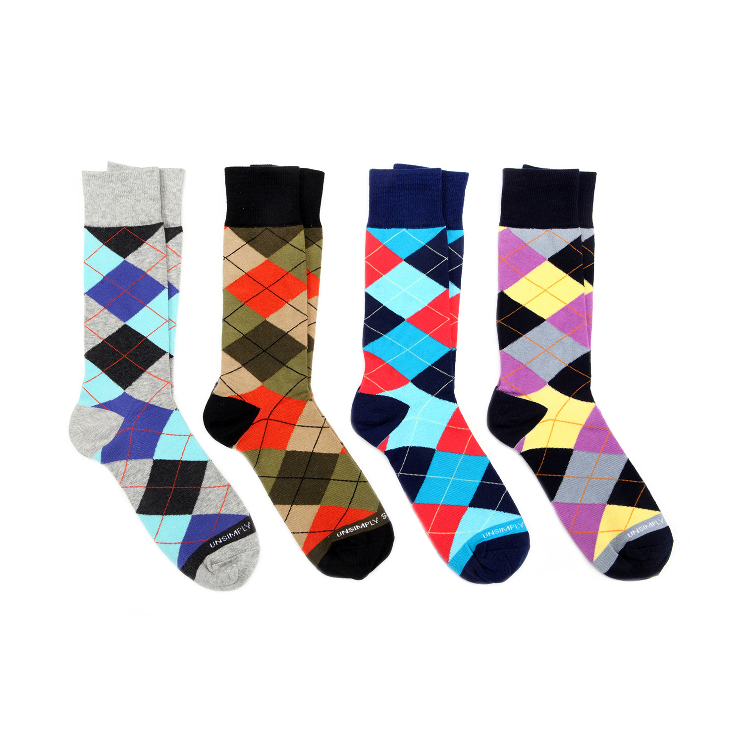 Dress socks argyle mix ii pack of 4 unsimply stitched touch