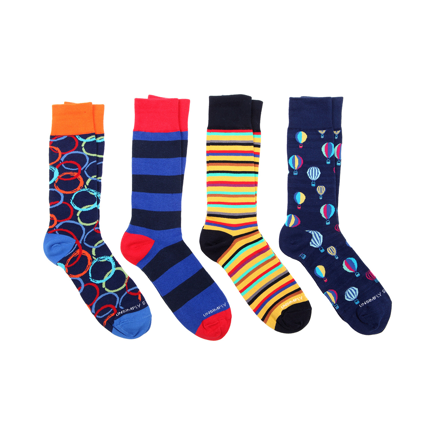 Dress socks balloons pack of 4 unsimply stitched touch of