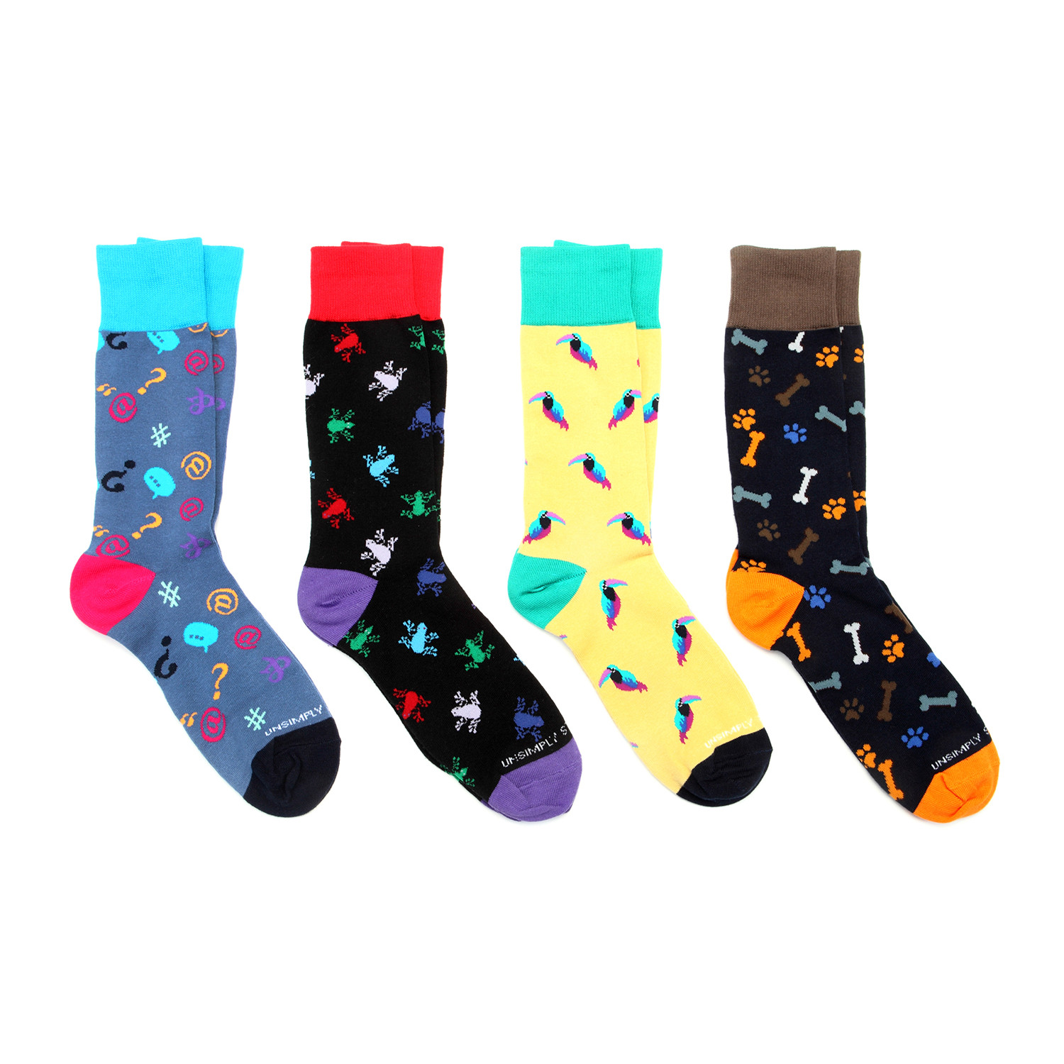 Dress socks animals pack of 4 unsimply stitched touch of