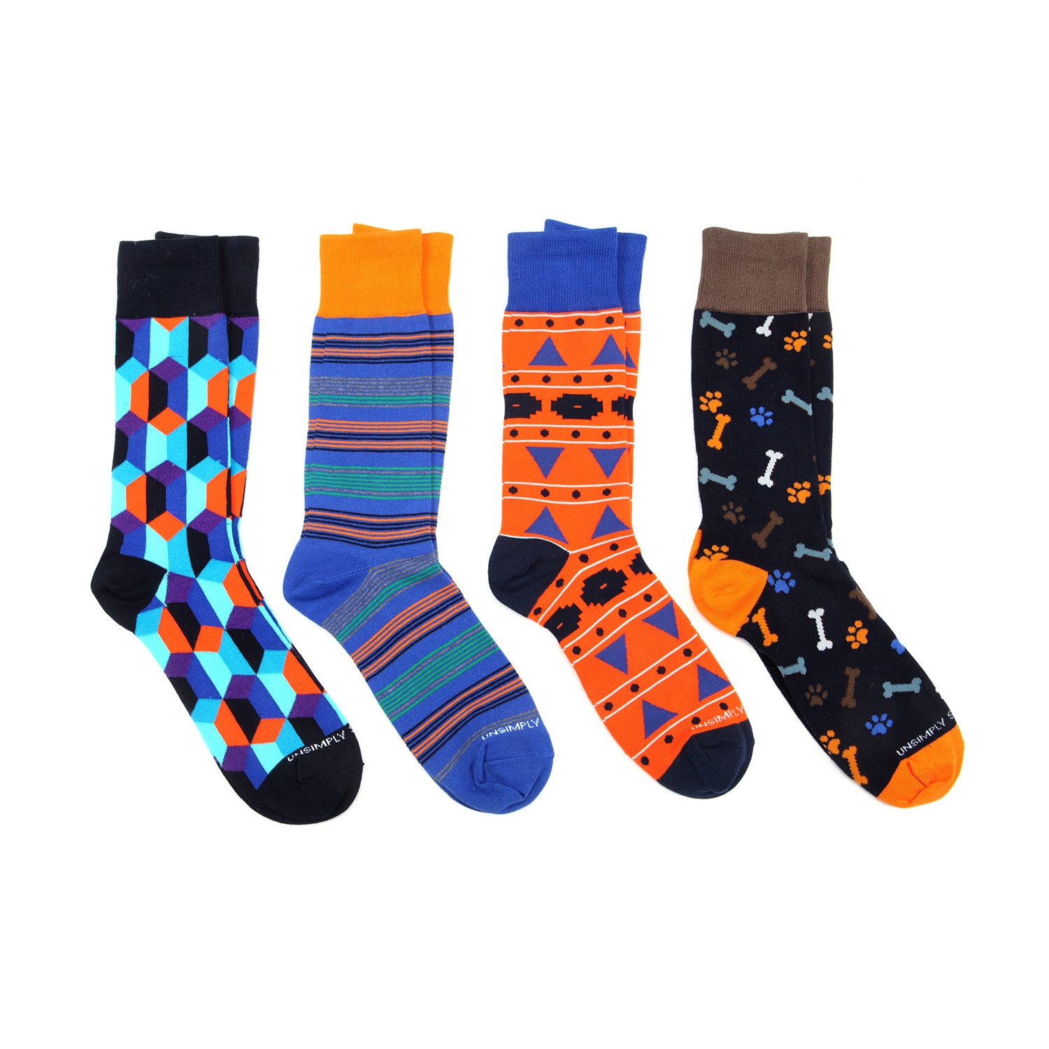 Dress socks dog bone pack of 4 unsimply stitched touch of