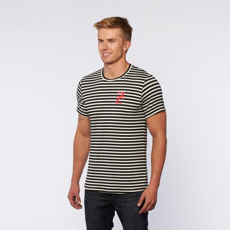 Stripe Tee // Black + White