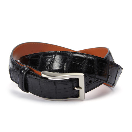 "Genuine Millennium Alligator Belt // Black (40"" Waist)"