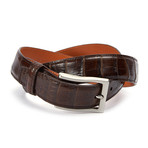 "Genuine Millennium Alligator Belt // Brown (36"" Waist)"