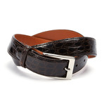 "Genuine Crocodile Belt // Brown (32"" Waist)"
