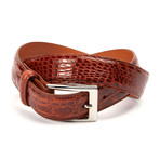 "Genuine Crocodile Belt // Cognac (34"" Waist)"