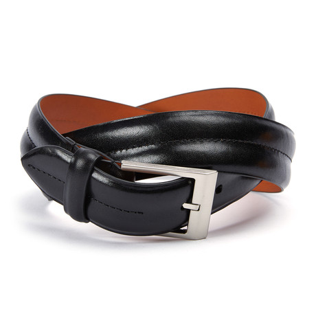 "Monte Carlo Double Barrel Belt // Black (32"" Waist)"