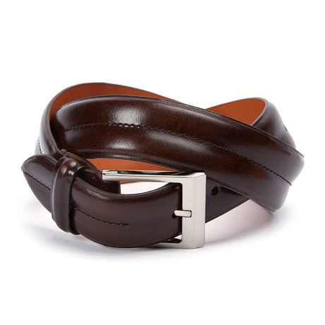 "Monte Carlo Double Barrel Belt // Brown (32"" Waist)"