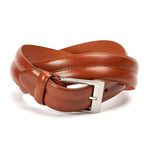 "Monte Carlo Double Barrel Belt // Cognac (32"" Waist)"