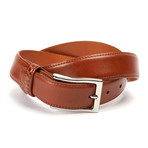 "Genuine Leather Monte Carlo Belt + Genuine Alligator Loop // Cognac (32"" Waist)"