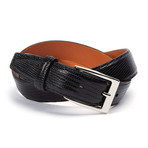 "Genuine Lizard Belt // Black (32"" Waist)"