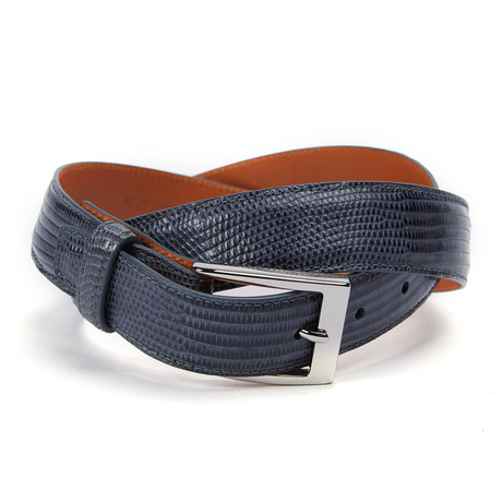 "Genuine Lizard Belt // Grey (32"" Waist)"