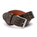 "Genuine Crocodile Tail Belt // Dark Brown (32"" Waist)"