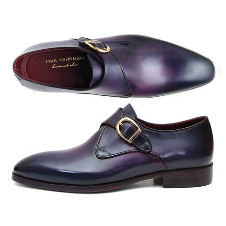 9758230fd40 Paul Parkman Lilac Genuine Ostrich Derby Shoes ID66CC44 in 2019