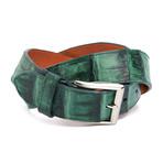 "Genuine Crocodile Tail Belt // Evergreen (32"" Waist)"