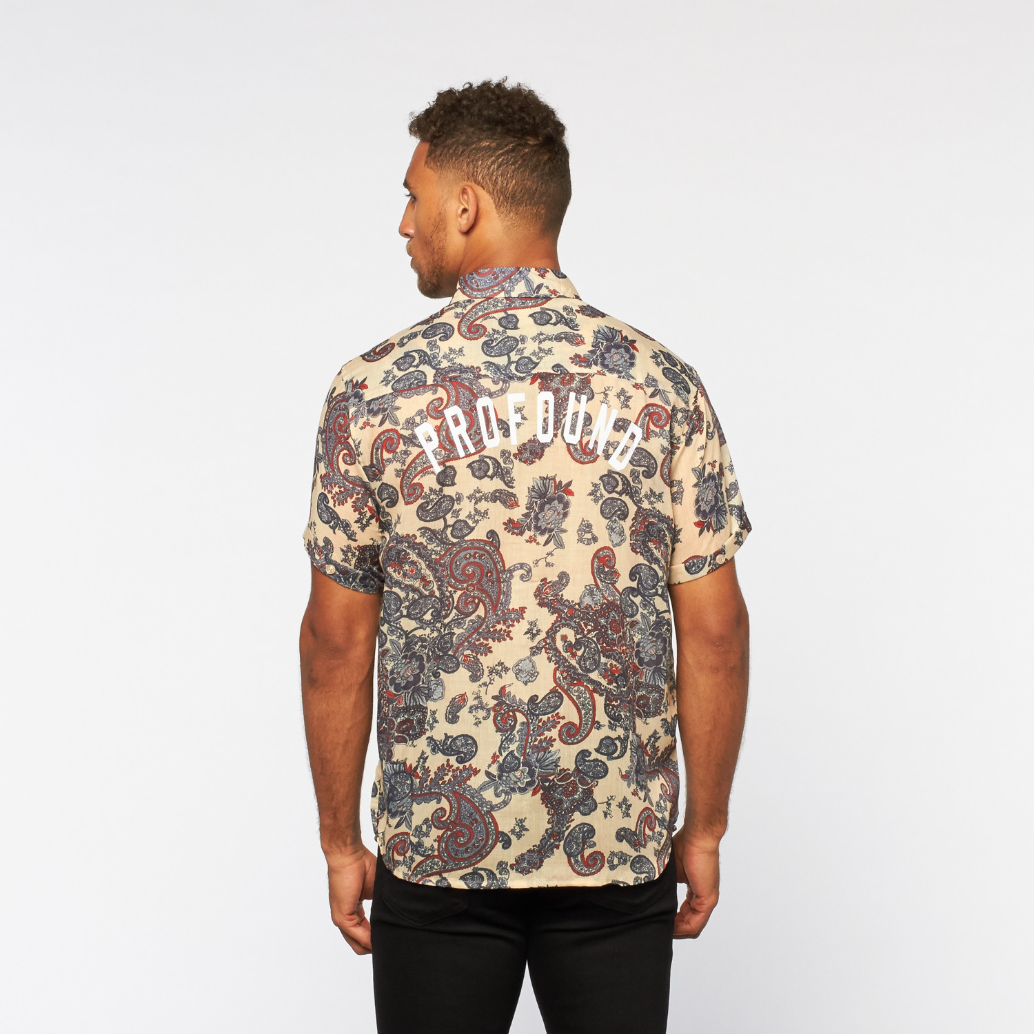 Button Down Shirt // Paisley Cream (S) - Profound Aesthetic ...