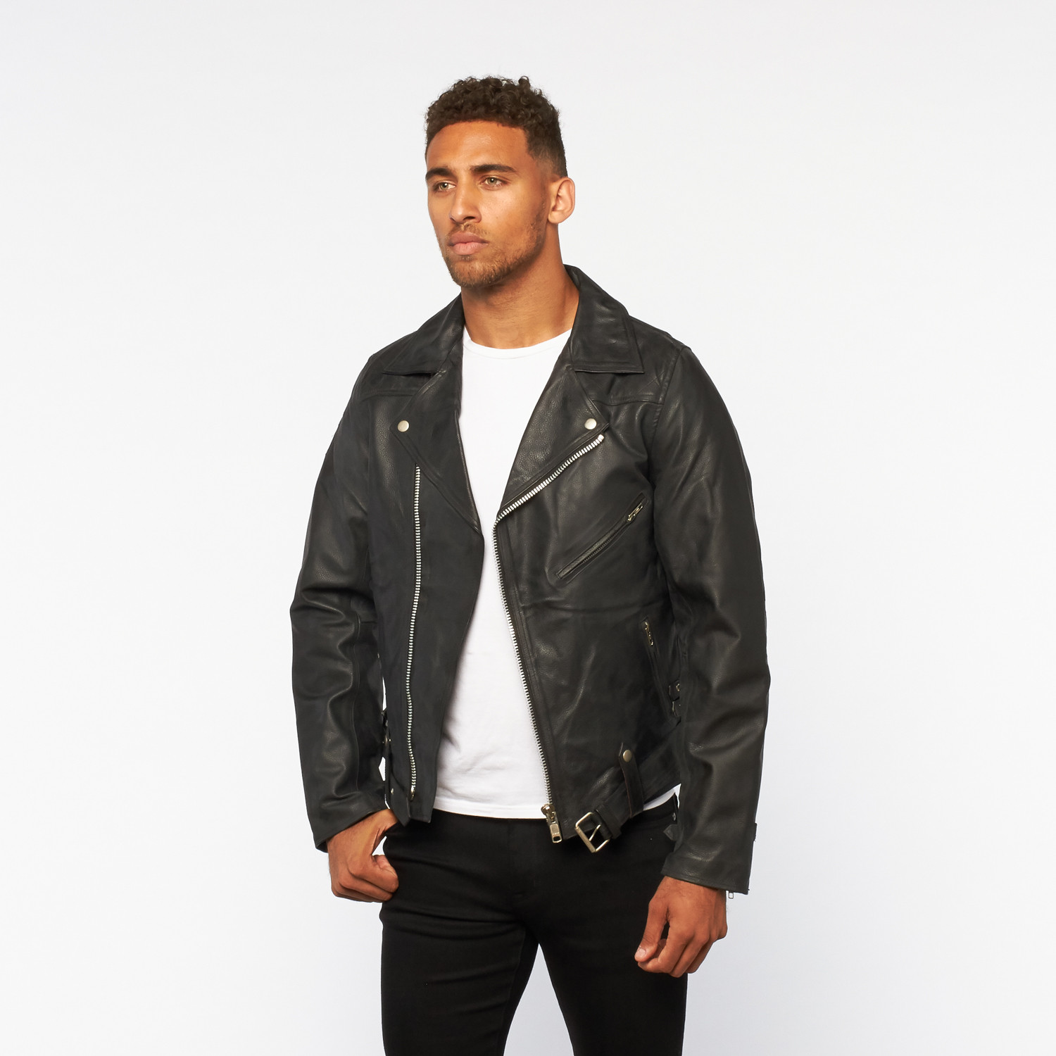 Leather jacket aesthetic - American Anarchy Leather Motorcycle Jacket Black Xs
