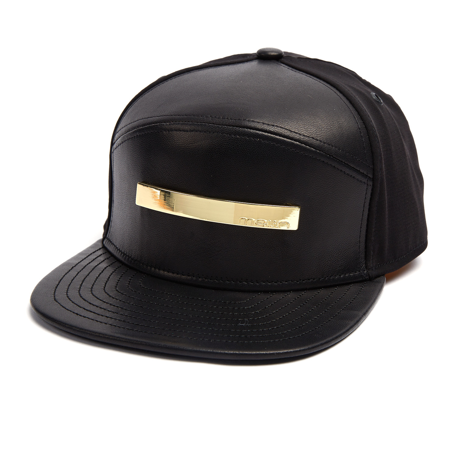 online store 75948 63ae2 The Bar 6-Panel Hat    Black + Gold