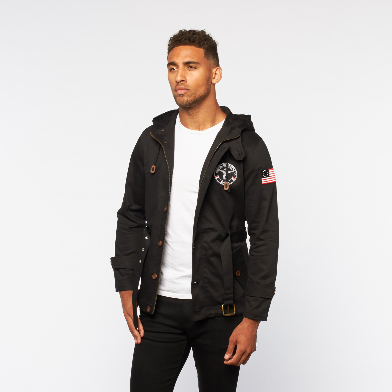 Rectangle Combat Hooded Parka Jacket // Black (S) - Profound ...
