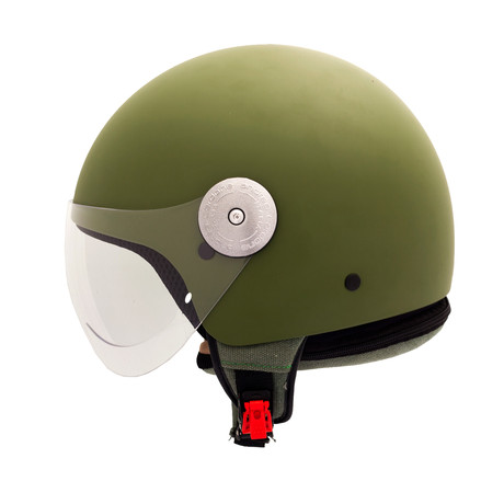 Olive Green Canvas Helmet