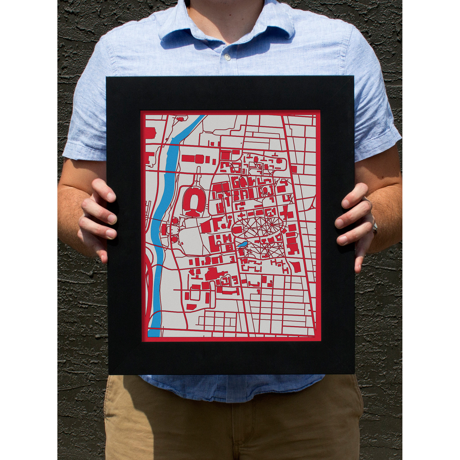 The Ohio State University Campus - Cut Maps - Touch of Modern