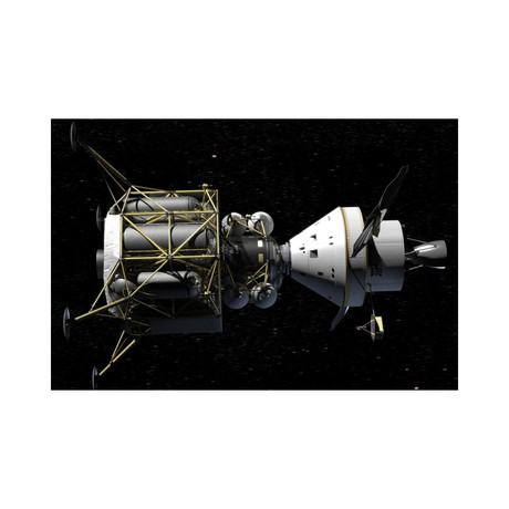 """Altair + Orion Spacecraft // Conceptual Rendering (18""""W x 12""""H)"""