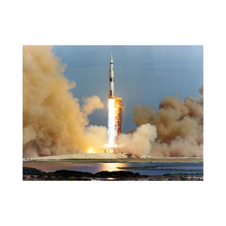 """Apollo 15 Moon Mission Launch, 1971 (12""""W x 16""""H)"""