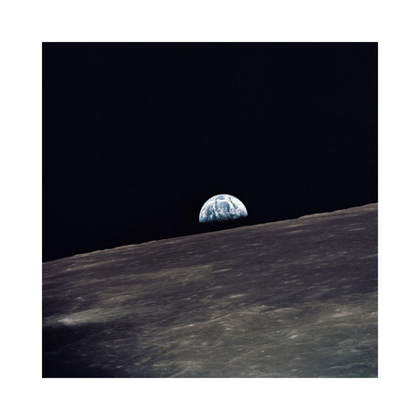 """Earthrise from Apollo 10, 1969 (12""""W x 12""""H)"""