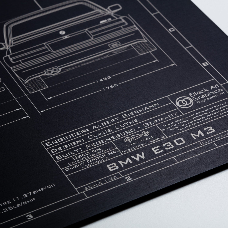 Bmw E30 M3 Black Art Graphics Touch Of Modern