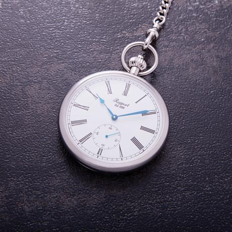 Rapport London Open Face Mechanical Pocket Watch Manual Wind // PW95
