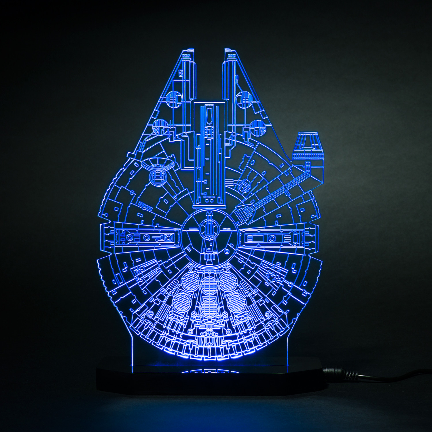 millennium falcon star wars led lamps touch of modern. Black Bedroom Furniture Sets. Home Design Ideas
