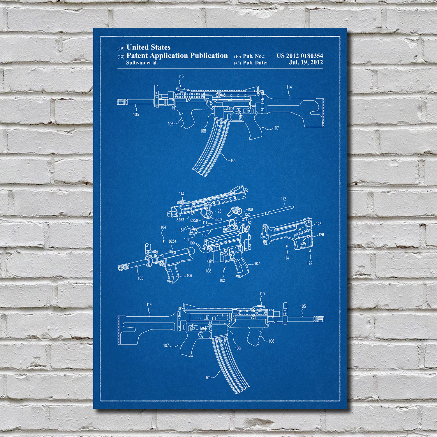 Ar 15 blueprint gun patent prints touch of modern for My blueprint arkansas