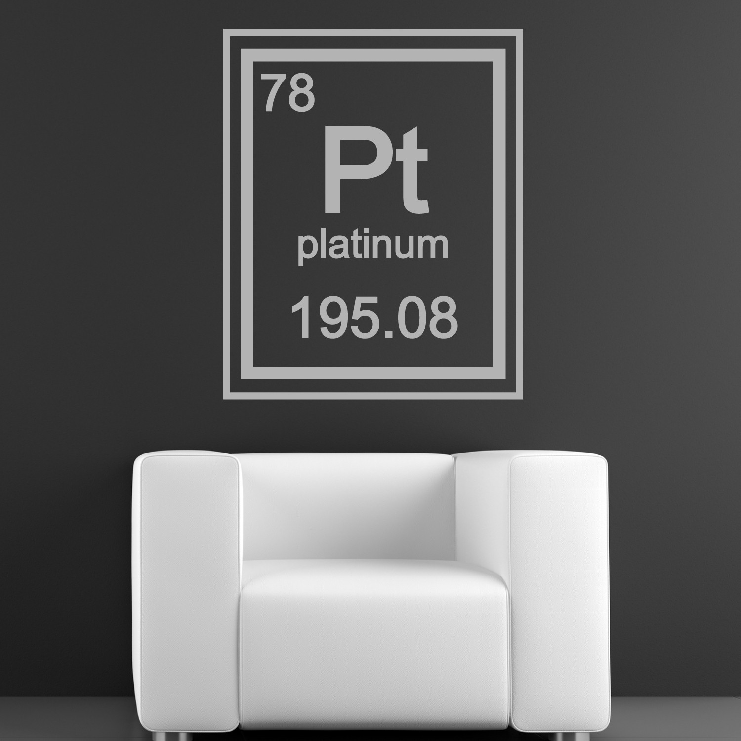 platinum periodic table element walltat touch of modern