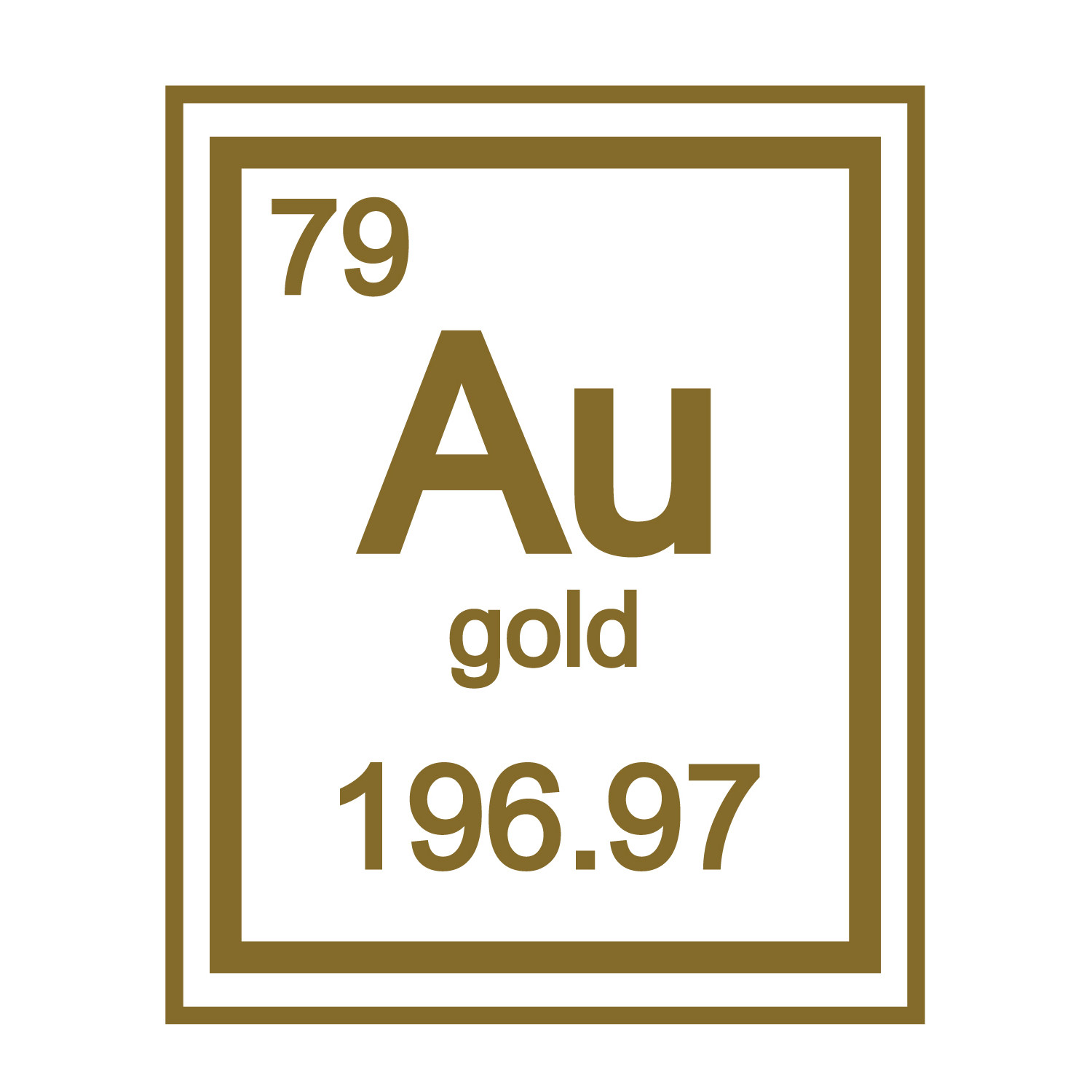 Gold periodic table element walltat touch of modern gold periodic table element urtaz