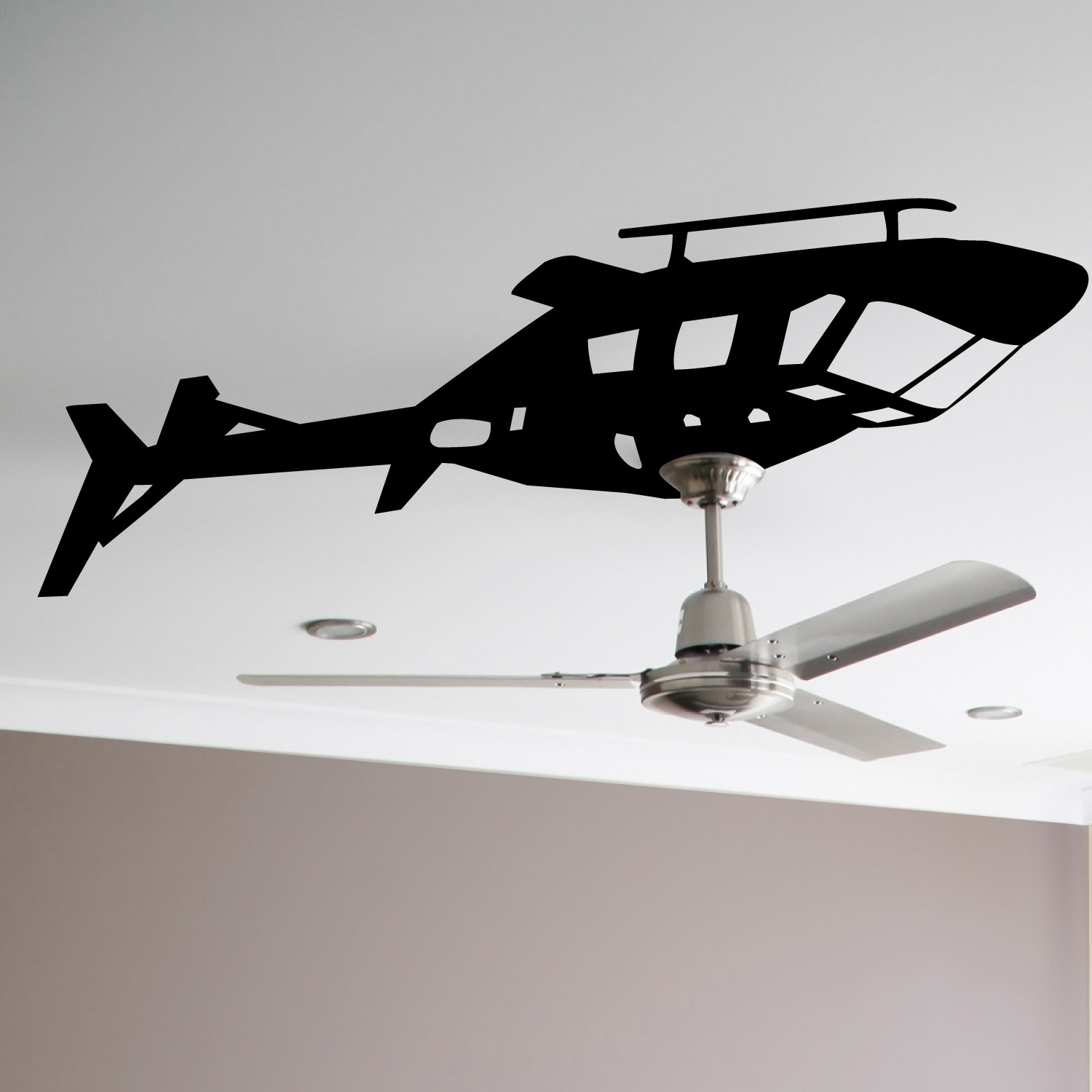 Helicopter Ceiling Fan Decal WALLTAT Touch of Modern