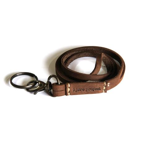 Keychain Neck Strap // Russet Brown