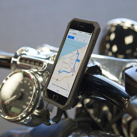 Aluminum Motorcycle Handlebar Mount + Case Kit