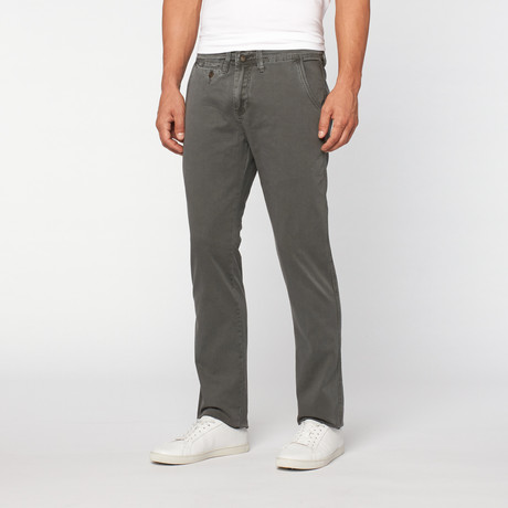 Lee Cooper // Owen Slim Fit Alcott Twill Broek // Grey