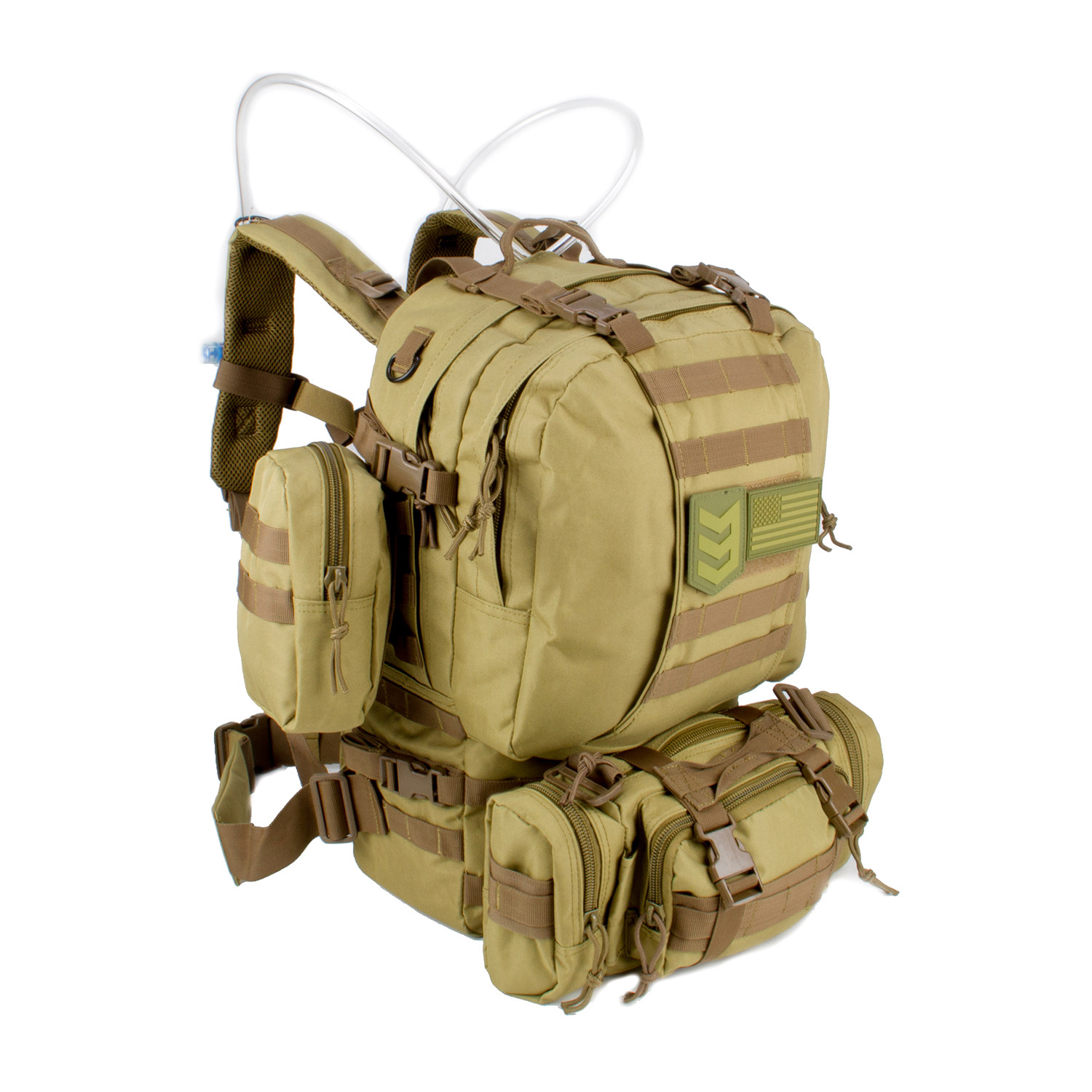 57f74f349e87 Paratus 72 Hour Pack    SERE Dual Tanker Hydration System (Coyote ...