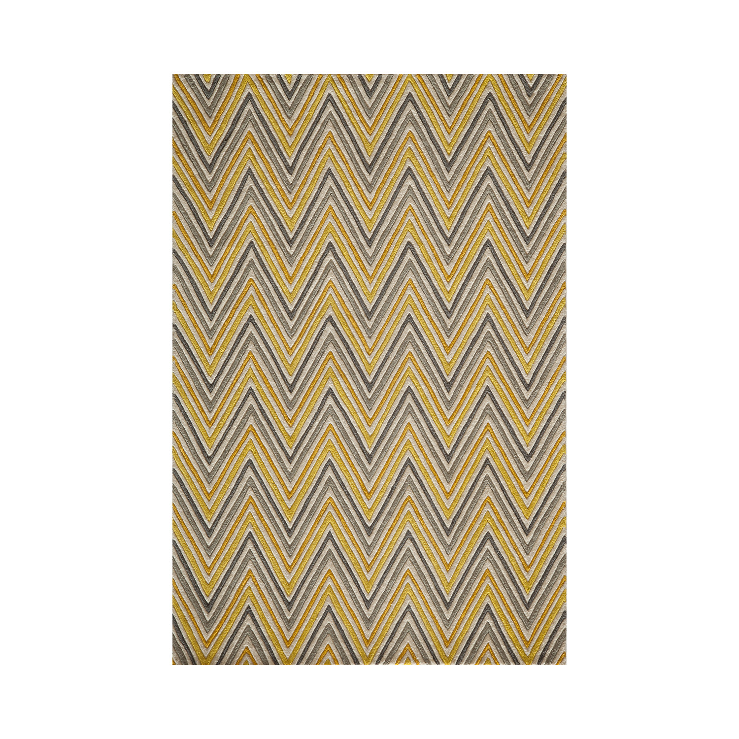Skinny Chevron Rug Yellow 3 6 Quot L X 5 6 Quot W Luxe Rugs