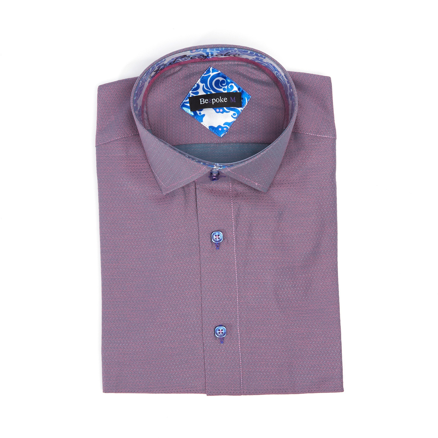 Bespoke Norway Button Up Shirt Lilac Xl Fashion Clearance