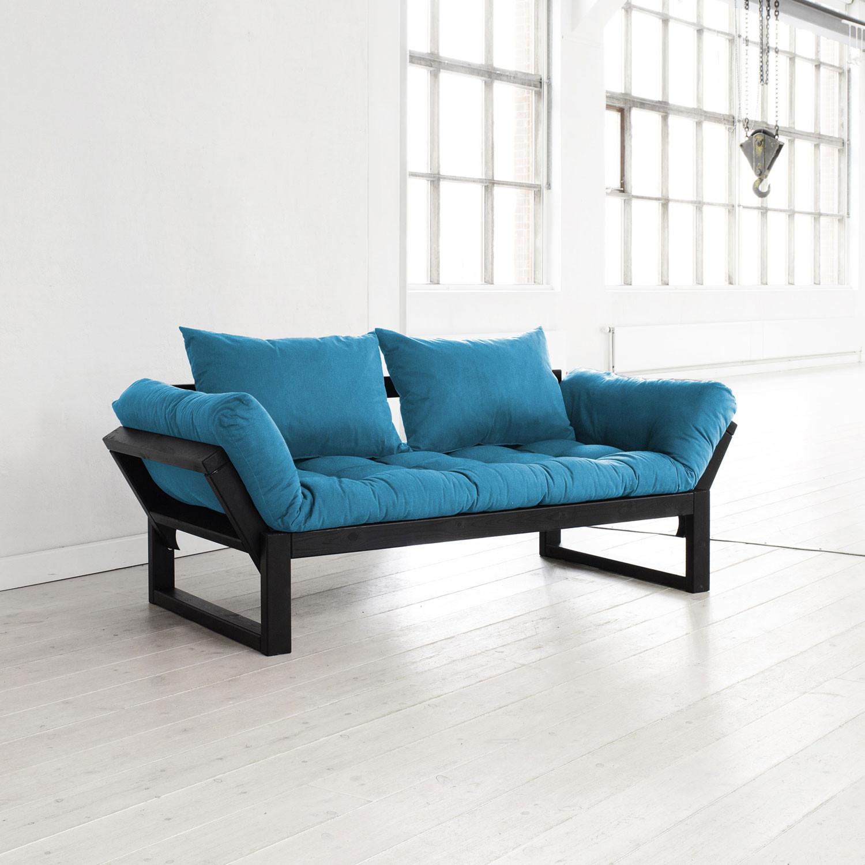 edge black frame natural cushion fresh futon touch of modern. Black Bedroom Furniture Sets. Home Design Ideas