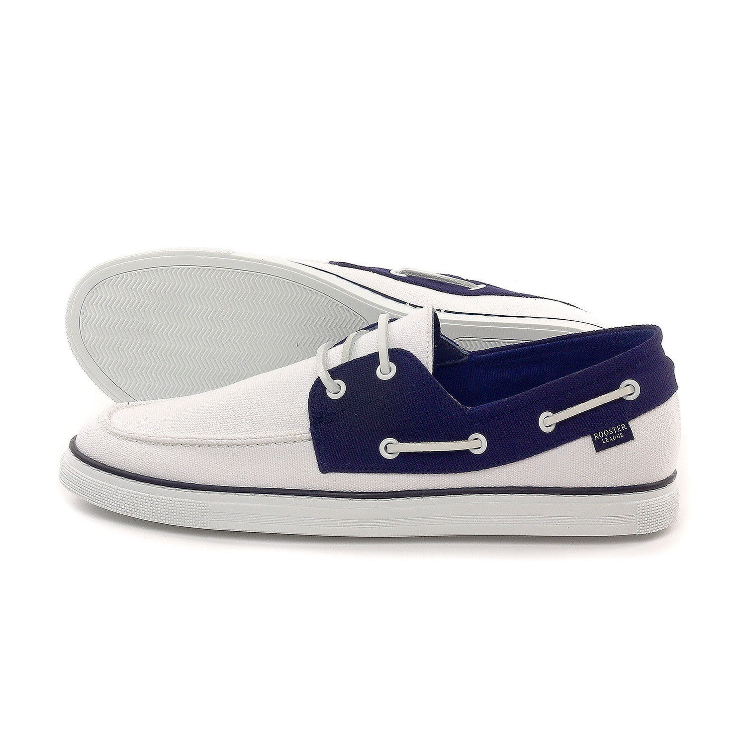 boat shoe white navy us 7 rooster league touch