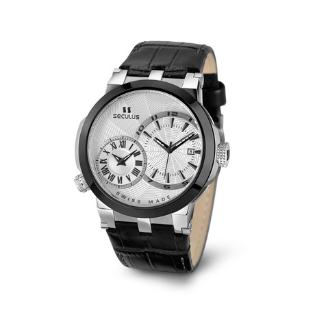 Seculus Don Carlos Dual Time Quartz // 4511.5.775/751 LB 2TB W