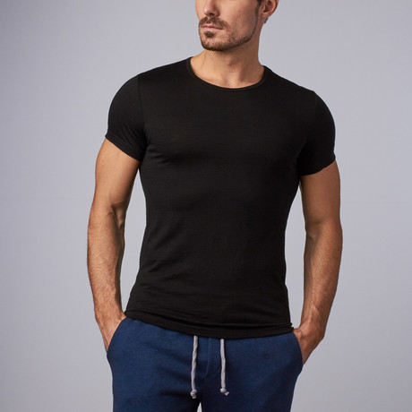Merino Wool Tee // Black (S)
