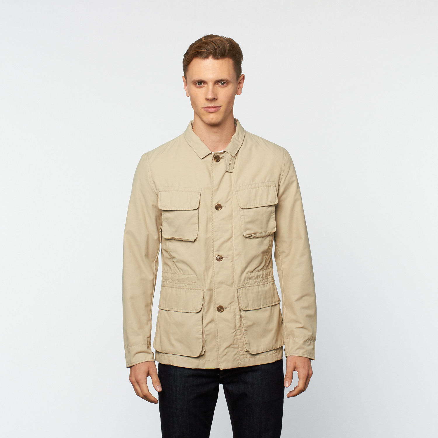 Utility Jacket // Beige (Euro 46) - GEOX - Touch of Modern