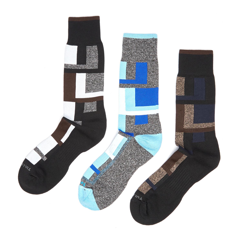 Dress socks blocks pack of 3 remo tulliani touch of modern