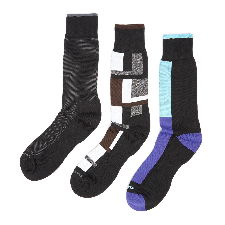 Dress socks black pack of 3 remo tulliani touch of modern
